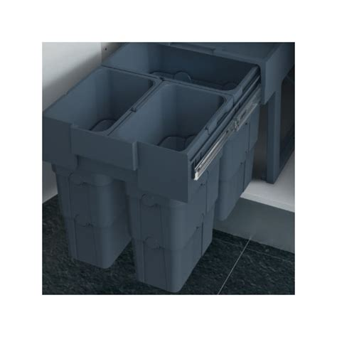 poubelle de cuisine 30 litres poubelle cuisine coulissante 3 bacs 30 litres