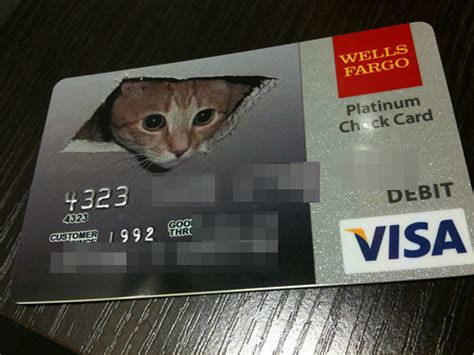 well fargo card design coolest credit card designs ceiling cat customize debit