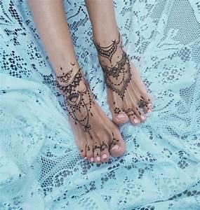Weißes Henna Tattoo : 1001 ideen f r tattoo am fu am kn chel oder an der wade tattoos tattoo ideen tattoo fu ~ Frokenaadalensverden.com Haus und Dekorationen