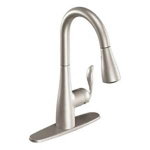 lowes moen kitchen faucets shop moen arbor stainless 1 handle pull kitchen faucet at lowes