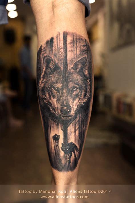 forrest wolf tattoo  manohar koli  aliens tattoo india