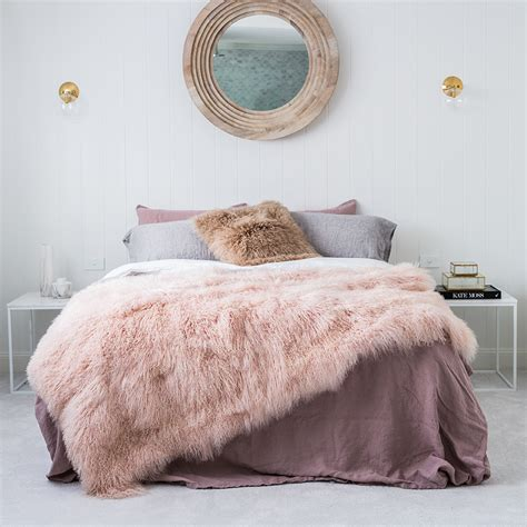 Springbok Rug by Pink Blush Mongolian Sheepskin Blanket Hides Of Excellence