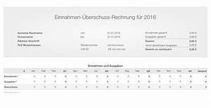 Ust Rechnung : numbers vorlage einnahmen berschuss rechnung 2016 ~ Themetempest.com Abrechnung