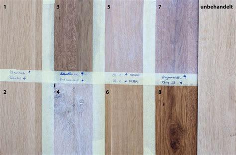Wachs Auf Holztisch by Ich Habe Einmal F 252 R Euch Verschiedene Holz Versiegelungen