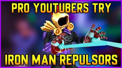 pro strucid youtubers   iron man repulsors roblox