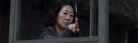 sandra oh on killing eve sandra oh confronts a psychopath in killing eve