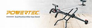 Powertec Dual Position Miter Saw Stand  Portable Edition