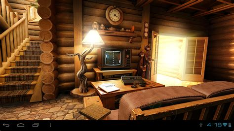 Animated Log Wallpaper - my log home 3d live wallpaper play de android