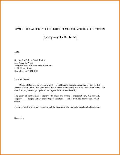 request letter format sample letter format  service