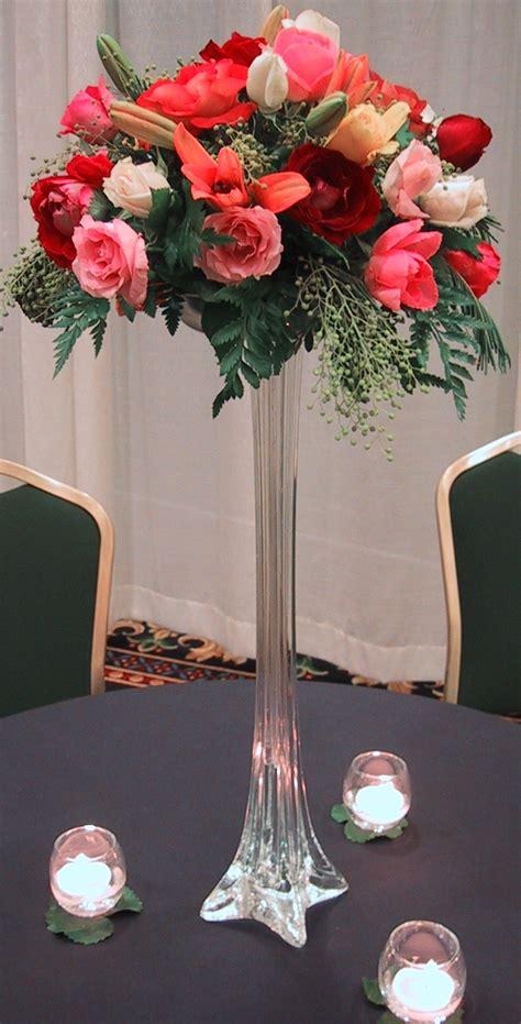wedding flowers wedding centerpieces tall vases  flowers