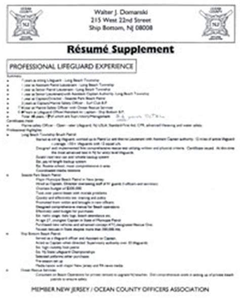 lifeguard skills for resume professional lifeguard resume
