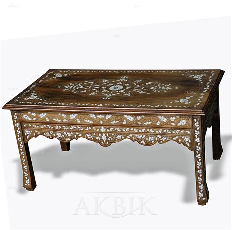 mother of pearl table l mediterranean levantine syrian furniture inlaid with