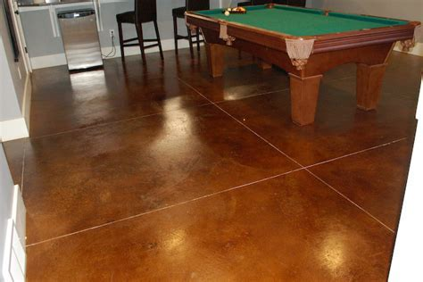 Shed and Basement Flooring Types   Stained Concrete, Epoxy