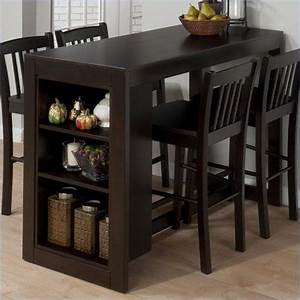 Bar Height Dining Table With Storage - WoodWorking