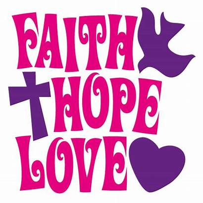 Faith Clip Clipart Hope Quotes Words Illustrations
