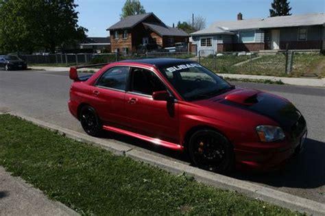 burgundy subaru wrx buy used 2004 subaru impreza wrx sti sedan 4 door 2 5l red