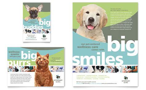 vet clinic flyer ad template design