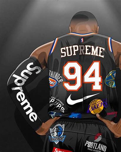 Supreme Nba Team Background Instagram Anything Basketball