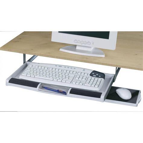 tiroir pour clavier 224 placer sous le bureau sur le site conrad 970359