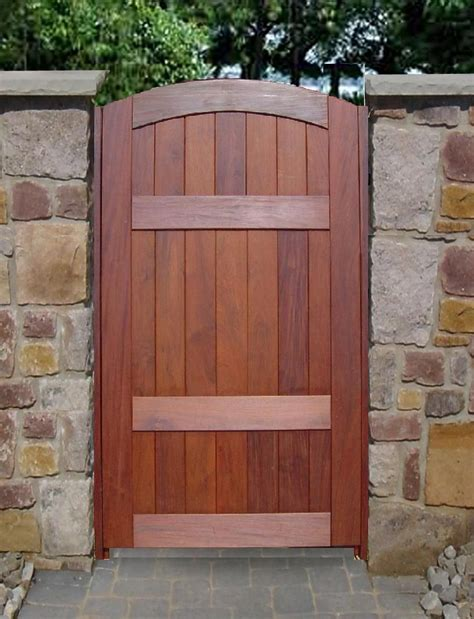 patio gate door  wooden timber garden
