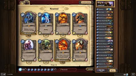 hearthstone paladin control deck from early obtainable