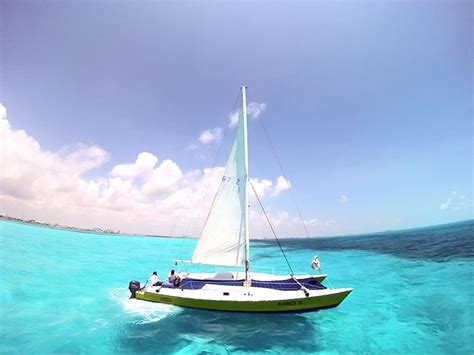 Full Day Isla Mujeres Catamaran Sailing Adventure by Private Charters Cancun Riviera Maya Antares 33