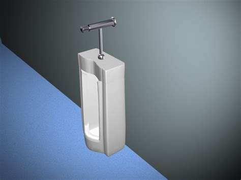 floor mount urinal 3d model 3d studio 3ds max files free
