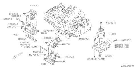book repair manual 2012 subaru outback spare parts catalogs 41032aj000 genuine subaru bracket ft mounting h4