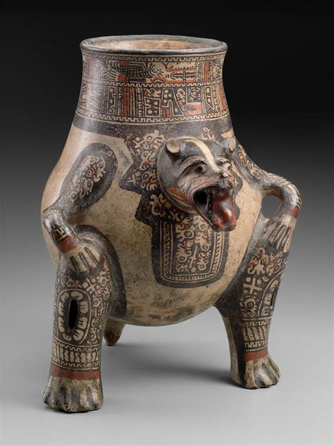 jaguar effigy pottery vessel museum  fine arts boston
