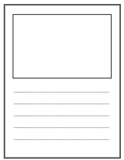 story book template write and draw lined paper with space for story illustrations free kinderland collaborative