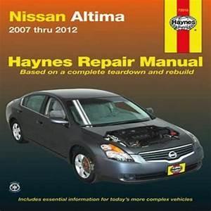 Haynes Repair Manual  Nissan Altima Automotive Repair