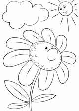 Colorear Cartoon Character Coloring Margarita Flores Dibujos Flor Animados Sol Printable Imprimir Colorare Daisy Sus Desenhos Imagenes Pintar Colorir Animati sketch template