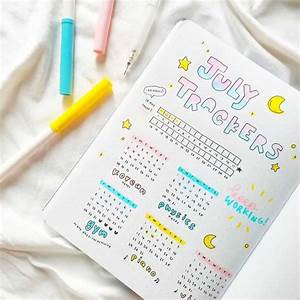 25 bullet journal habit trackers to help you build better