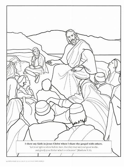 Coloring Sermon Mount Pages Activity Primary Lesson
