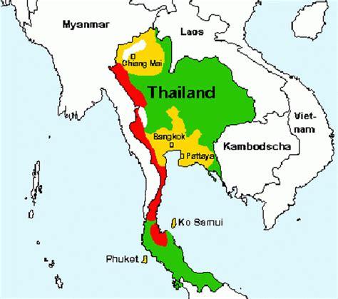 Thailand Malaria Karte