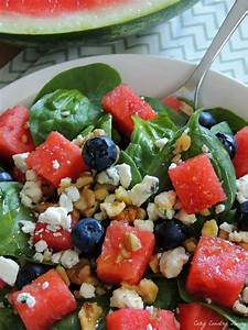 Spinach & Watermelon Salad   Cozy Country Living