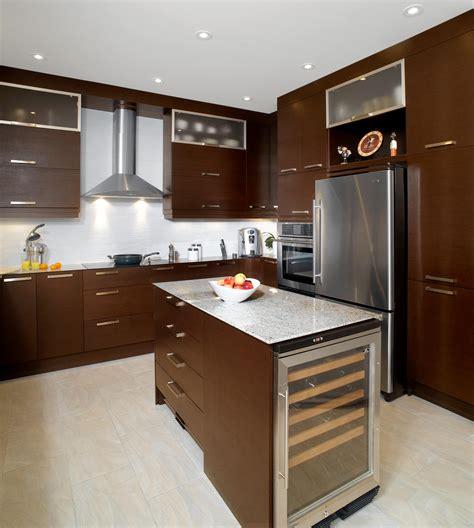 cuisine couleur wengé wenge stainless cuisine bois quartz