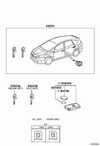 Toyota Prius V Door Lock Cylinder  Cylinder And Key Set