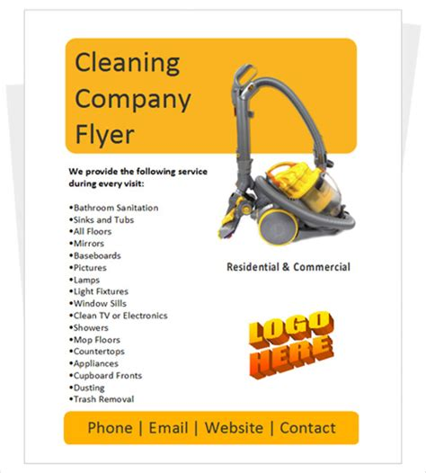Cleaning Company Flyers Template by House Cleaning Flyer Template 20 Free Psd Format