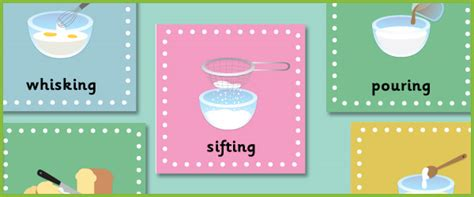 early learning resources cooking adjective posters eyfs