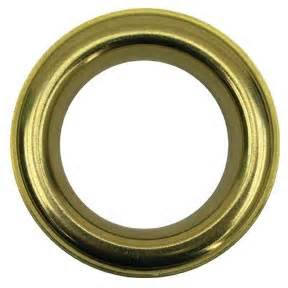 decorative metal grommets 1 57 quot id brass