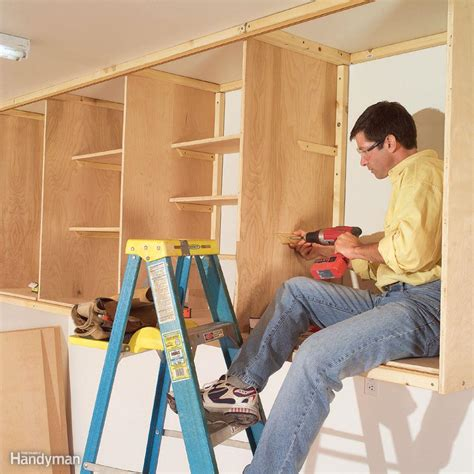 how to make simple kitchen cabinets 11 easy garage space saving ideas the family handyman 8752