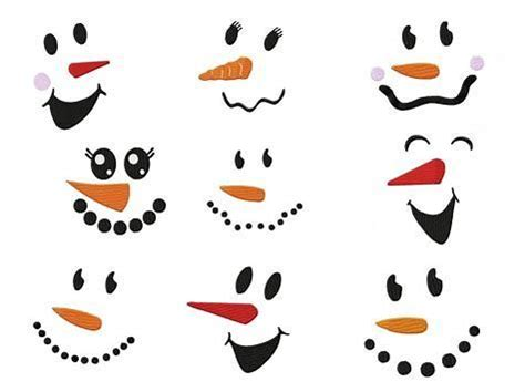 image result   printable snowman face template