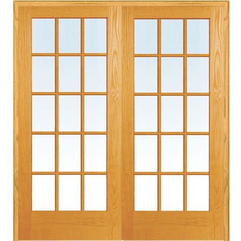 Home Depot Interior Doors Prehung - mmi door 72 in x 80 in both active unfinished pine glass 15 lite clear true divided prehung