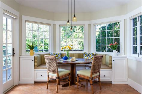 Light-filled Breakfast Nook Features Banquette Seating