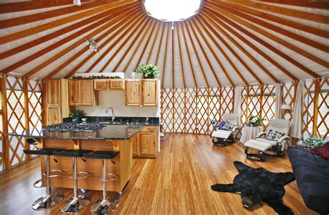 lake home decorating yurt interiors pacific yurts