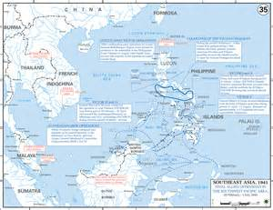 World War II in the Pacific and Asia Map