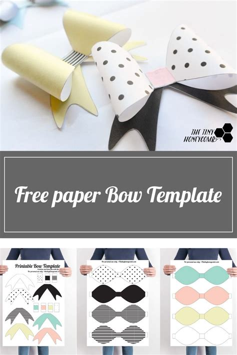 ashe bow template diy printable paper bow with template diy gift wrap