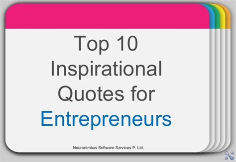 Top 10 Inspirational Quotes For Entrepreneurs
