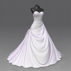 3d wedding dress model With wedding dress model
